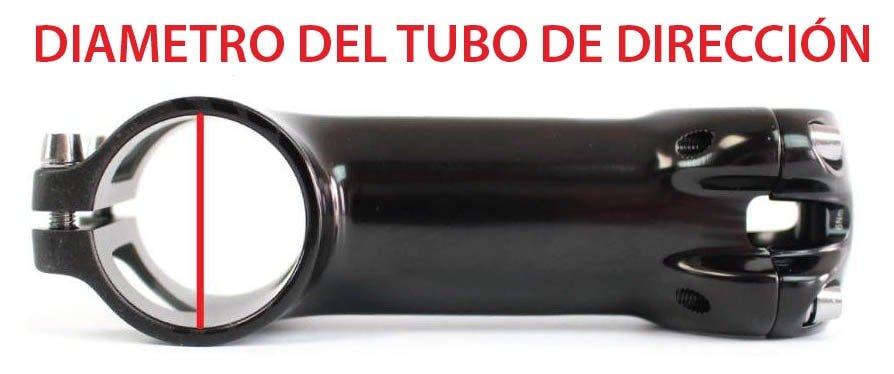 potencia de bicicleta diametro tubo direccion
