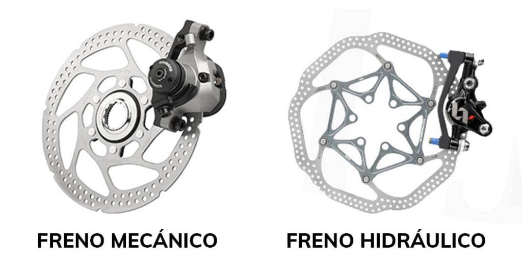 bicicletas gravel - diferencias frenos hidraulico y mecanico