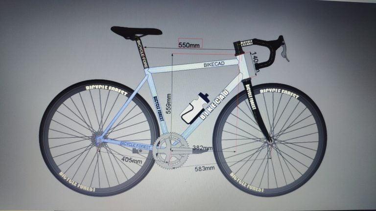 Geometría bicicleta de carretera de acero