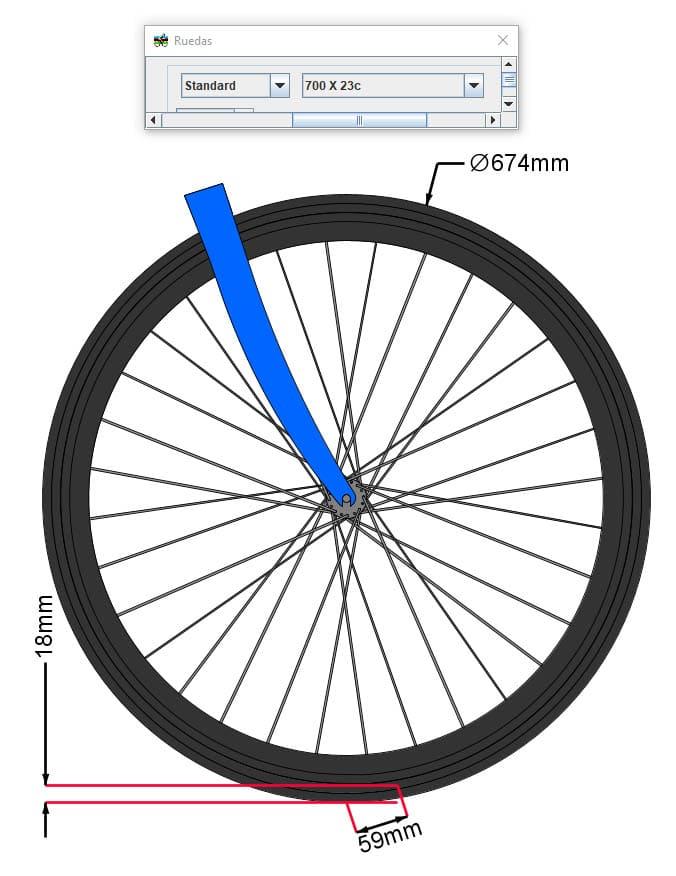 wheel flop con cubierta 700x23
