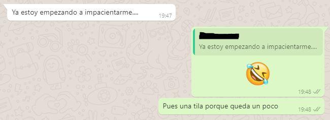 conversación whatsapp